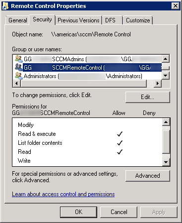 SCCM-RC-file-share-permissions